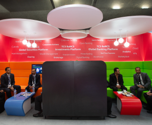 Exhibition stand at Sibos